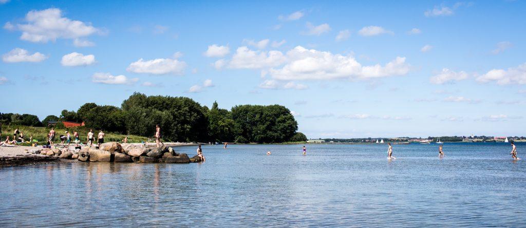 Strand Flensburg Holnis im Sommer